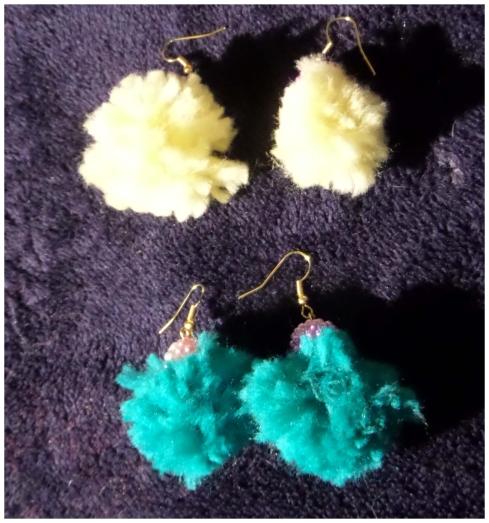 orecchini di lana